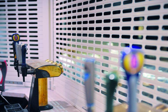 New SecurityVision 38 White Bar Roller Shutter